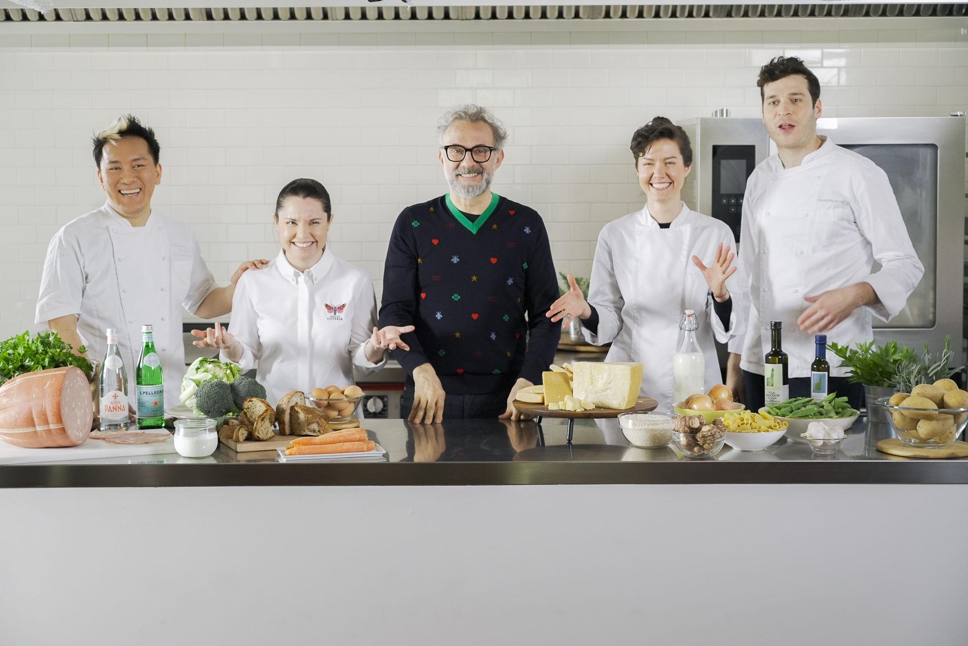 Massimo Bottura and his Team